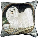 Maltese - Tapestry filled cushion-0