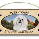 Maltese- Welcome Hanging Sign-0