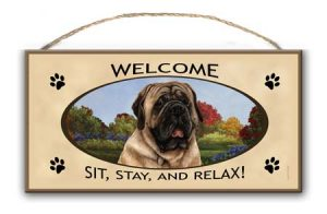 Mastiff- Welcome Hanging Sign-0