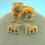 Bulldogs Slide pendant/Brooch with earrings-0
