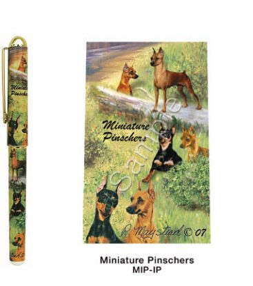Miniature Pinscher Deluxe Ink Pen-0