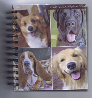 Mixed Dogs - Telephone & Address Book-0
