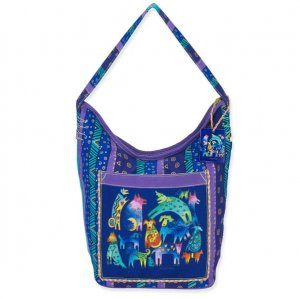Laurel Burch 'Mythical Dogs' Hobo Bag-0