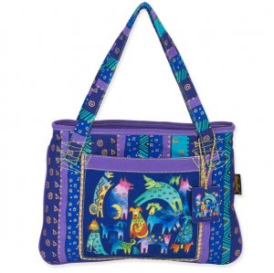 Laurel Burch 'Mythical Dogs' Medium Tote Bag-0