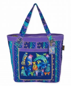 "Laurel Burch 'Mythical Dogs"" Shoulder Tote Bag-0"