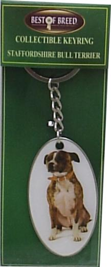 Staffordshire Bull Terrier Best of Breed Keyring-0
