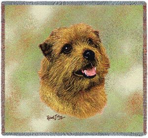 Norfolk Terrier Square Tapestry Throw-0
