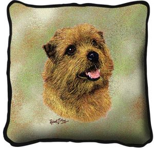 Norfolk Terrier Tapestry Cushion Cover-0