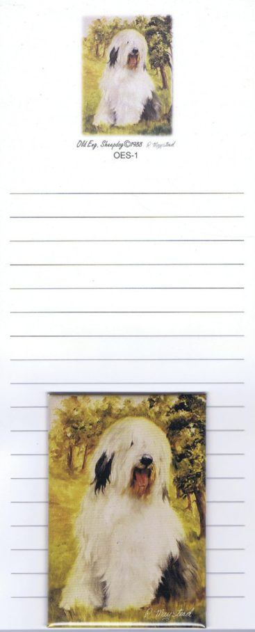 Old English Sheepdog - List Pad & Magnet Combo-0