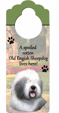 Old English Sheepdog Door Knob Sign-0