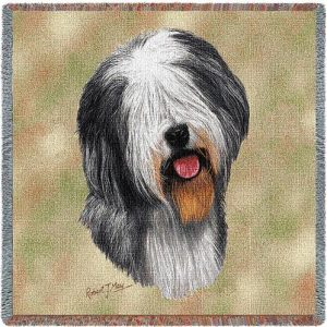 Old English Sheepdog Tapestry Throw-0