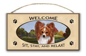Papillon- Welcome Hanging Sign-0