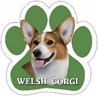 Welsh Corgi - Paw Print Car Magnet-0