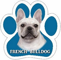 French Bulldog - Paw Print Car Magnet-0