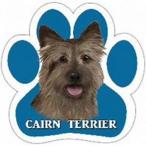 Cairn Terrier - Paw Print Car Magnet-0