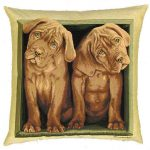 Puppies Tapestry Cushion Cover-0