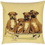 Skating Puppies Tapestry Cushion Cover-0