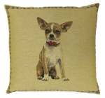 Chihuahua(Tan) Tapestry Cushion Cover-0