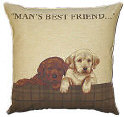 Man's Best Friend Tapestry Cushion Cover-0