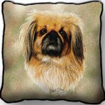 Pekingese Tapestry Cushion Cover-0