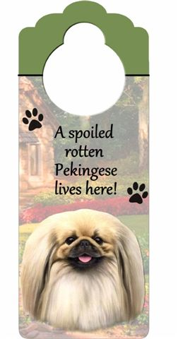 Pekingese Door Knob Sign-0