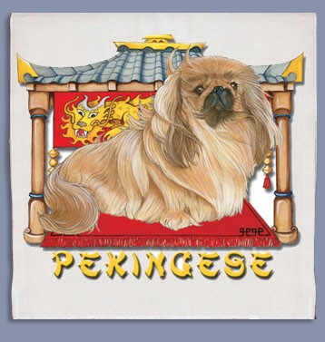 Pekingese Kitchen Tea Towel-0