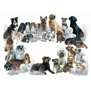 """Mixed Dogs Galore"" Giant Pet Placemat-0"