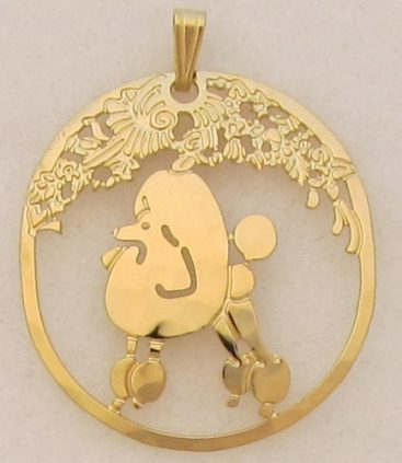 Poodle Gold plated Pendant-0
