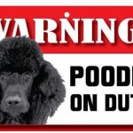 Black Poodle Warning Sign-0