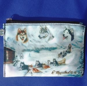 Siberian Husky - Zippered Pouch-0