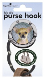 Chihuahua - Foldable Purse Hook-0