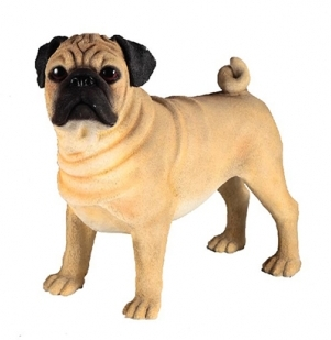 Pug Dog Standing Figurine -0