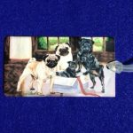 Pug Luggage Bag Tag-0