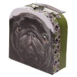Black Pug Card Case with handle-0