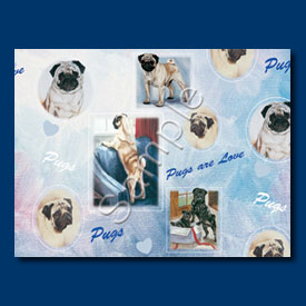 Pug – Gift Wrap paper-0