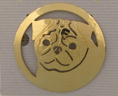 Pug Gold plated Brooch-0