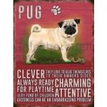 Pug - Hanging Metal Sign-0