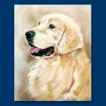 Golden Retriever – List Pad and Magnet Combo-0