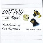 Golden Retriever - Magnetic List Pad-0