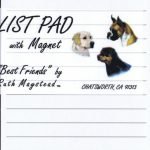 Labrador- chocolate – Magnetic List Pad-0