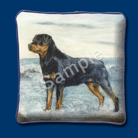 Rottweiler - Woven Cushion Cover-0
