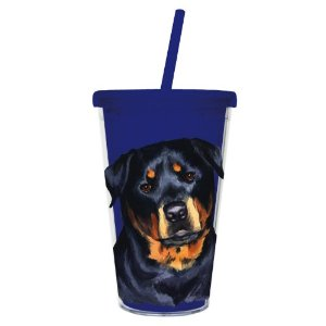 Rottweiler  – 500ml Insulated Cup with Straw-0