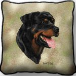 Rottweiler Tapestry Cushion Cover-0