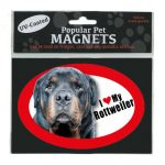 I Love My Rottweiler – Oval Magnet-0