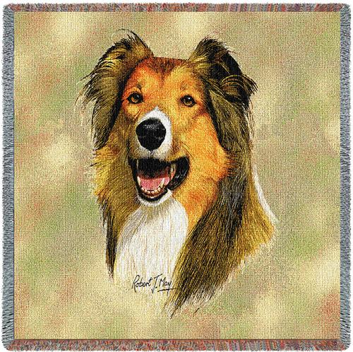 Rough Collie Tapestry Throw-0