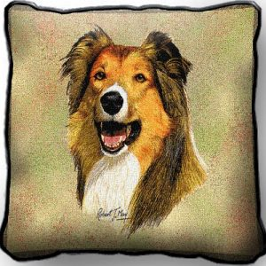 Rough Collie Tapestry Cushion Cover-0