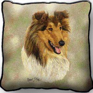 Rough Collie 2 Tapestry Cushion Cover-0