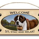 Saint Bernard- Welcome Hanging Sign-0