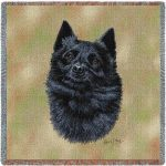 Schipperke Square Tapestry Throw-0