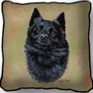 Schipperke Tapestry Cushion Cover-0